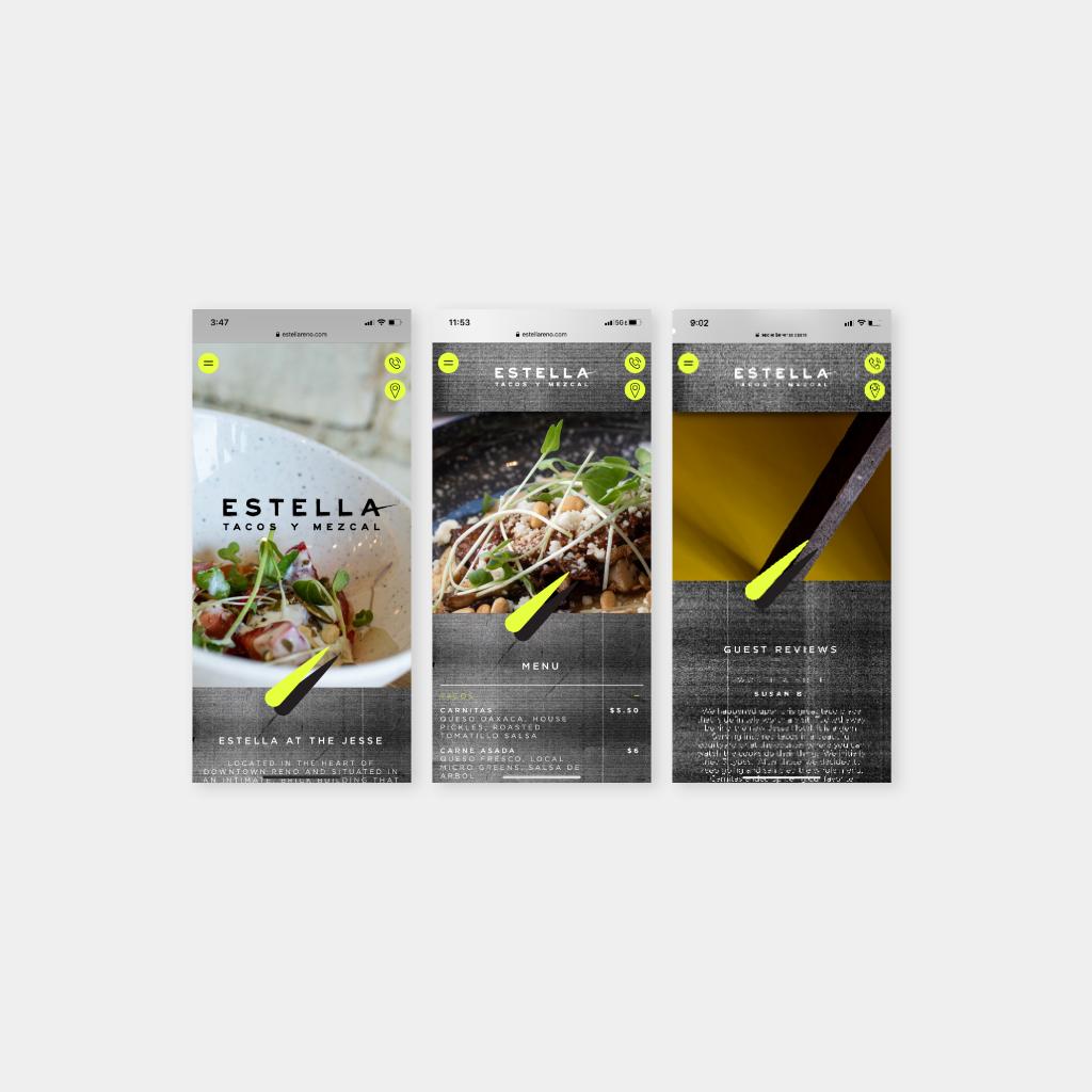 Studio Rushton Smith Branding Estella Tacos Y Mezcal Operational Touch Point Responsive Website Mobile Visuals